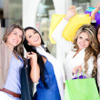 Beautiful shopping women - Stock Photo