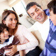 Boy talking to his family — Stock Photo #11130688