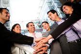 Ligação de equipe de negócios — Foto Stock