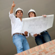Stock Photo: Engineers at a construction site