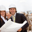 Engineers at construction site — Stock Photo #11163796