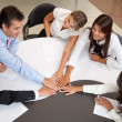 Business teamarbete — Stockfoto