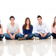 Stock Photo: Group of sitting