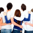 Group of friends hugging — Stock Photo