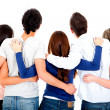 Stock Photo: Group of friends hugging