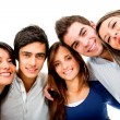 Happy group of young — Foto Stock