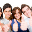 Young with thumbs up — Stock Photo #11252263