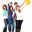 Happy group of college students — Stock Photo #11252290