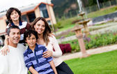 Happy family smiling — Stock Photo