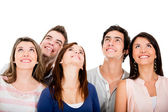 Group of friends looking up — Stock Photo