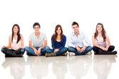 группа сидя — Стоковое фото