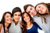šťastný skupina mladých — Stock fotografie