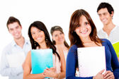 Group of university students — Stock Photo