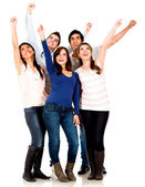 Excited group of — Stock Photo