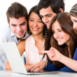 Friends with a laptop — Stock Photo #11270685