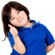 Boy with thumbs up - Stock Photo
