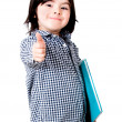 Young student with thumbs up - Stock Photo