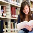 College student at the library — Stock Photo #11271121