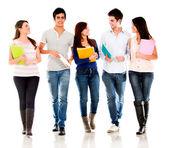 Skupina studentů mluví — Stock fotografie