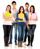 Happy group of students — Stock Photo