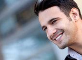 Hombre guapo feliz — Foto de Stock