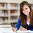 Beautiful female student — Stock Photo