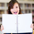 Student with an open book — Stock Photo #11293546