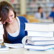 Student at the library — Stock Photo #11293621