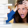 Worried female student — Stock Photo #11293655
