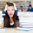Stock Photo: Frustrated female student