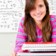 Foto Stock: Female student