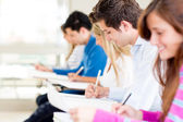 Students taking a exam — Stock Photo