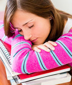 Student fallng asleep — Stock Photo