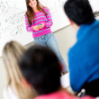 Female student in class — Stock Photo
