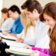 Students in a classroom - Foto Stock