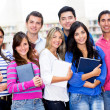 Stock Photo: Group of college students