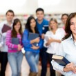 Teacher with a group of students — Stock Photo #11375883