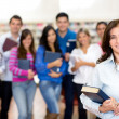 Teacher with group of students — Stock Photo #11375883