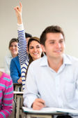 Student participating in class — Stock Photo
