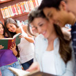 Stock Photo: Students at library