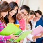 Uninversity students — Stock Photo