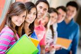 Grupp av studenter — Stockfoto