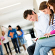 Students at the university — Stock Photo #11400047