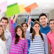 Excited group of students — Stock Photo #11400055