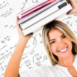 Happy female student — Stock Photo