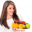 Stock Photo: Fruit based diet