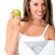 Stock Photo: Woman dieting
