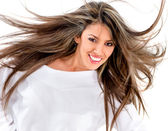 Woman with gorgeous long hair — Stock Photo