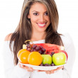 Healthy eating woman — Stock Photo #11465370