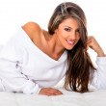 Beautiful woman smiling — Stock Photo #11465387